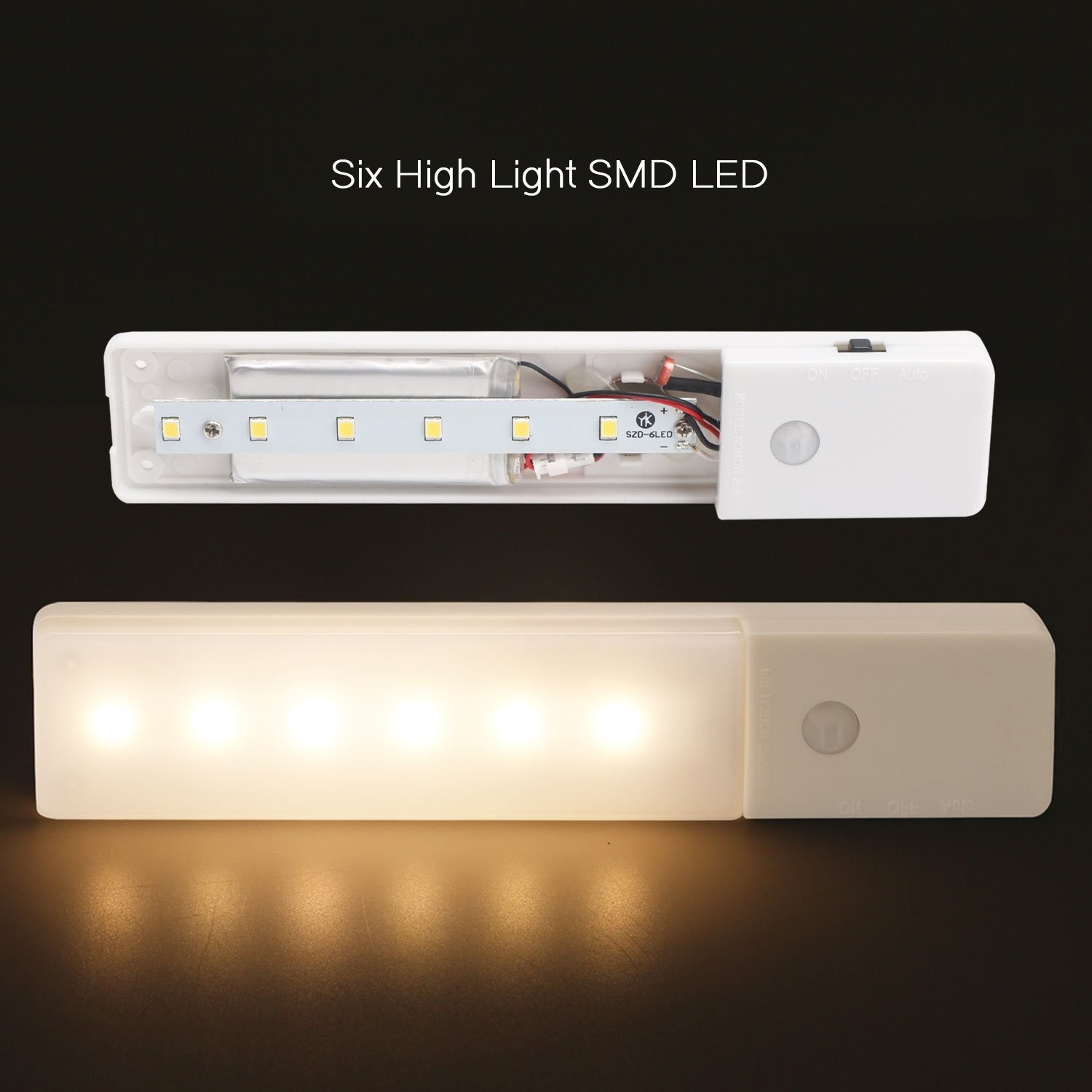 El608 Rechargeable Infrared Motion Sensor Wall Led Night