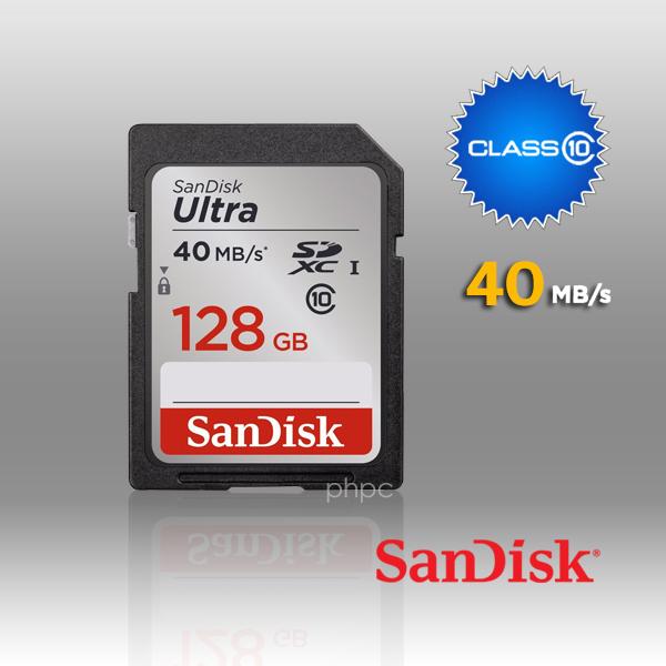 SanDisk Ultra SDXC 128GB UHS-I Class 10 40MB/s (SDSDUN-128G)