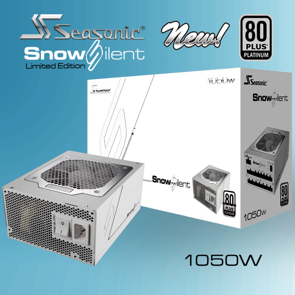 Seasonic SnowSilent (Limited Edition) 80Plus Platinum Series 1050W New Power Supply