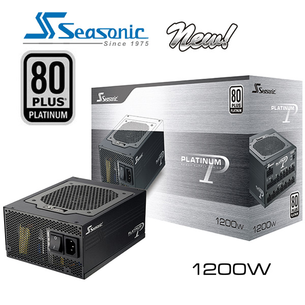 Seasonic 80Plus Platinum Series 1200W New Power Supply